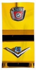 1954 Ford F-100 Custom Pickup Truck Emblems Beach Towel