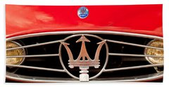 1954 Maserati A6 Gcs Grille Emblem -0259c Beach Towel