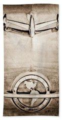1954 Oldsmobile Super 88 Hood Ornament - Emblem Beach Towel
