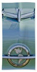 1954 Oldsmobile Super 88 Hood Ornament Beach Towel
