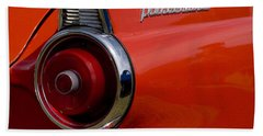 1955 427 Thunderbird Tail Light Beach Towel