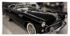 1955 Ford Thunderbird Convertible Beach Towel by Chris Flees