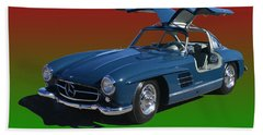 1955 Mercedes Benz 300 S L  Beach Towel