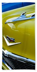 1956 Chevrolet Hood Ornament 3 Beach Towel