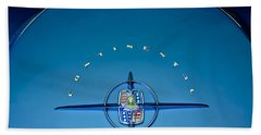 1956 Lincoln Continental Mark II Emblem Beach Towel