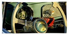 1956 Volkswagen Vw Bug Steering Wheel 2 Beach Towel