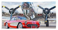 1957 Chevrolet Corvette Beach Sheet by Jill Reger