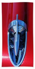 1957 Chevy Belair Hood Rocket Beach Towel by Jani Freimann
