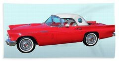 Old Cars Beach Towel featuring the photograph 1957 Ford Thunderbird  by Aaron Berg