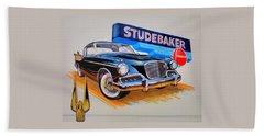 1957 Studebaker Golden Hawk Beach Towel