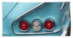 1958 Chevrolet Impala Taillights  Beach Towel