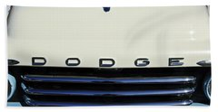 1958 Dodge Sweptside Truck Grille Beach Towel by Jill Reger