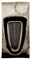 1958 Edsel Pacer Grille Emblem - Hood Ornament Beach Towel