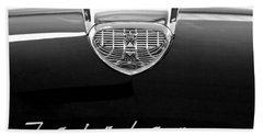 1958 Ford Fairlane 500 Victoria Hood Emblem Beach Towel