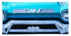 1958 Gmc Series 101-s Pickup Truck Grille Emblem Beach Towel