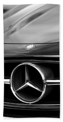 1958 Mercedes-benz 300sl Roadster Grille Emblem Beach Towel