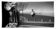 1958 Oldsmobile 98 Taillight Emblem Beach Towel
