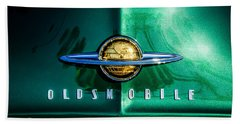 1958 Oldsmobile Grille Emblem -0236c Beach Towel