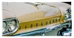1958 Oldsmobile Super 88 Grille Emblems - Hood Orament Beach Towel