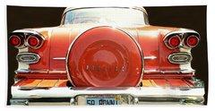 1958 Pontiac Bonneville Beach Towel by Diana Angstadt