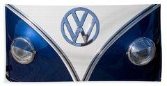 1958 Volkswagen Vw Bus Hood Emblem Beach Towel