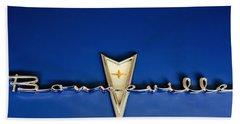 1959 Pontiac Bonneville Emblem Beach Towel