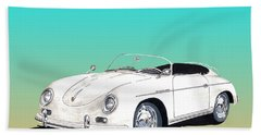 1959 Porsche Speedster Beach Towel by Jack Pumphrey