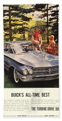 1960 - Buick Lesabre Sedan Advertisement - Color Beach Towel