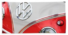 1960 Volkswagen Vw 23 Window Microbus Emblem Beach Towel