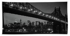 1960s Queensboro Bridge And Manhattan Beach Towel