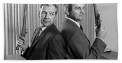1960s Two Middle Aged Angry Businessmen Beach Towel