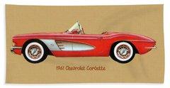 1961 Chevrolet Corvette Beach Sheet