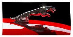 1961 Jaguar Kougar Hood Ornament -0569c Beach Towel