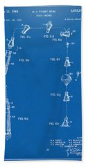 1963 Space Capsule Patent Blueprint Beach Towel by Nikki Marie Smith