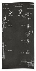 1963 Space Capsule Patent Gray Beach Towel