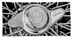1964 Shelby 289 Cobra Wheel Emblem -0666bw Beach Towel