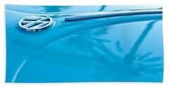 1964 Volkswagen Vw Bug Emblem Beach Towel