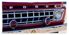 1965 Ford American Lafrance Fire Truck Beach Towel by Jill Reger