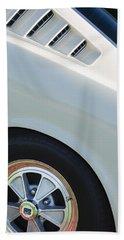 Beach Towel featuring the photograph 1965 Shelby Mustang Gt350 Wheel Emblem by Jill Reger