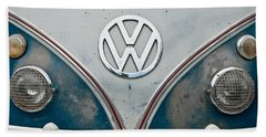 1965 Vw Volkswagen Bus Beach Towel by Jani Freimann