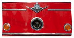 1966 International Harvester Pumping Ladder Fire Truck - 549 Ford Gas Motor Beach Sheet by Jill Reger