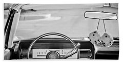1967 Lincoln Continental Steering Wheel -014bw Beach Towel