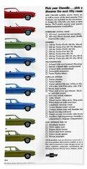 1968 Chevrolet Chevelle  Beach Towel