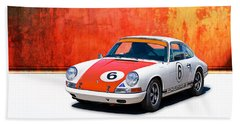 1968 Porsche 911 Beach Towel