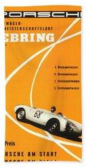 1968 Porsche Sebring Florida Poster Beach Towel