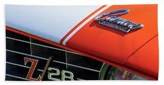 1969 Chevrolet Camaro Z-28 Emblem Beach Towel