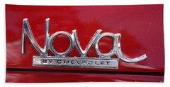 1970 Chevy Nova Logo Beach Sheet by John Telfer