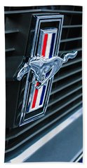 1970 Ford Mustang Boss 302 Fastback Grille Emblem Beach Towel
