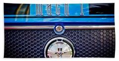 1970 Ford Mustang Gt Mach 1 Emblem Beach Towel