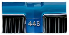 1970 Oldsmobile 442 Grille Emblem Beach Towel